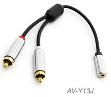 6-inch 3.5mm Stereo Female to Dual RCA Male Left/Right Premium Cable, AV-Y13J