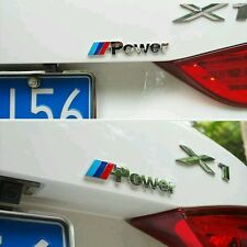 "4"" M POWER 3D Metal Emblem Refitting Badge Sticker Car Styling Auto BMW Series"