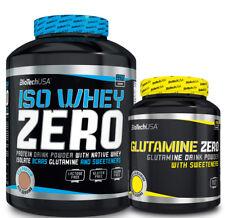 BioTech USA Iso Whey Zero 2270g Whey Protein Isolat Molke Eiwei�Ÿ + Glutamin 600g