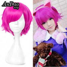 Short Pixie Purple Pink Dark Child League of Legends LOL Annie Cosplay Wig