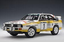 1:18 Autoart Audi Sport Quattro SWB 1985Blomqvist/Cederberg#1 Rally Monte Carlo