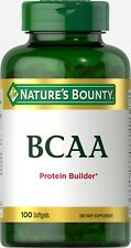 Bounty Nature's Bounty BCAA Dietary Supplements Protein Builder 100 Softgels New