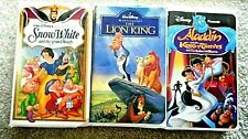 3 DISNEY VHS TAPES - THE LION KING, ALADDIN & SNOW WHITE & THE SEVEN DWARFS