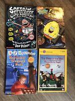 LOT 4 BOOKS CAPTAIN UNDERPANTS/SPONGBOB/MAYFLOWER TREASURE HUNT/ THE DOOR IN