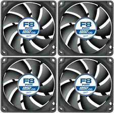 4 X Pack de enfriamiento Pwm F8 Arctic PST Co 80 mm Case Fan Quiet 2000 Rpm, 4 Pin
