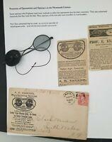 1896 Atlanta GA South Wales NY Optician Advertising Cover Adjusting Spectacles