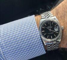 Rolex Datejust 1601 - Vintage 36mm - Men Swiss - Automatic- Black Dial Jubilee