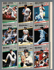 1989 Fleer Uncut Proof 9-Panel, Roger Clemens, Mark McGwire, Kevin Mitchell...