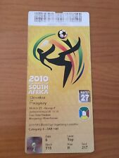 TICKET MATCH 27 SLOVAKIA - PARAGUAY WC SOUTH AFRICA 2010