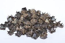 100x Ziernieten Pyramidennieten Krallennieten, 9 x 9 mm, Colonial Gold, USA