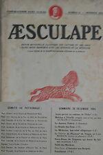 Aesculape n12- 1934 : L'Art et la Médecine (Voir Sommaire Photo)