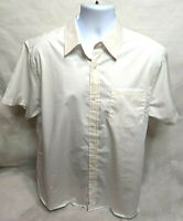 Lee Men's Uniforms Button-Down Short Sleeve Shirt Size Large Color White