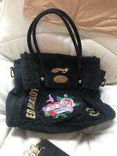 Ed hardy Black Bag Shoulder Strap Used Fair Condition