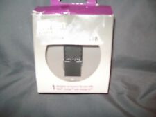 bytten designer accessory for use with fitbit metallic silver NEW!!!