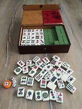 MAH JONGG / MAH JONG GAME BY GIBSONS GAMES VINTAGE COMPLETE SET - Thick Tiles