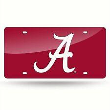 Alabama Crimson Tide NCAA Red Laser Tag License Plate
