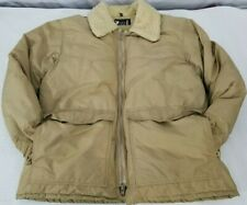 Vintage 10X Prime Northern Goose Down Insulated Tan Winter Jacket Made in USA