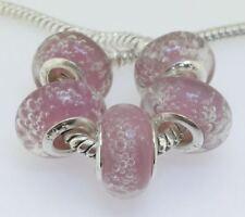 5X handmade silver Murano Lampwork Glass Beads for European Charm Bracelet L149