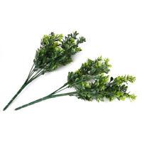 2 x Kuenstliche Blumen Pflanzen Grass fuer Hause/ Garten Dekoration Gruen