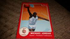 1985 STAR COMPANY MICHAEL JORDAN ROOKIE RARE RED ERROR BASKETBALL CARD