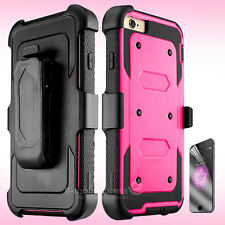 Belt Clip Holster Shockproof Rugged Case Cover for Apple iPhone 5s SE 6s 7 Plus