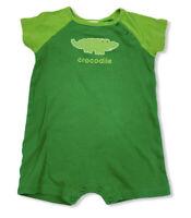 Vintage Osh Kosh Baby One Piece Romper Size 18 Months Green Crocodile
