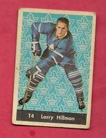 1961-62 PARKHURST # 14 LEAFS LARRY HILLMAN  CARD