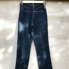 marithe Francois Girbaud Jeans Donna Vita Alta Zampa Denim Pant High Waist 40 34