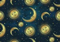 A1  Stary Celestial Moon & Sun Poster Size 60 x 90cm Kids Poster Gift #16760