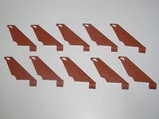 Lego ® Lot x10 Aile Aileron Avion 6x1x5 Plate Wing Nougat 61800 NEW