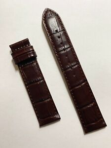 Original MIDO Baroncelli 20mm Brown Leather Watch Band Strap M8600 / M8608