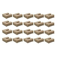 CUSTOM TAN 1/2 INCH PLASTIC PONTOON BOAT RAIL SHIM / FENCE SPACERS (SET OF 20)