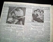 "Jake Lamotta Infamous Boxing Fight Fixed Mafia Mob ""Raging Bull"" 1947 Newspaper"