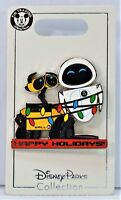 Disney 2018 Christmas Happy Holidays Wall E & Eve Wrapped In Lights Pin NEW CUTE