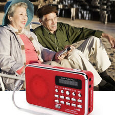 Portable Pocket LCD Digital FM AM Radio Speaker USB TF AUX MP3 Player FlashLight