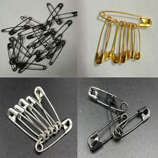 50Pcs Safety Pins Dressmaking Brooch Badge Sewing Craft Fastening 19mm