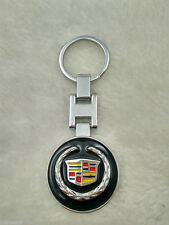Metal Car double side Logo keyring key chain pendant Key Holder for For Cadillac