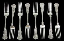 "TIFFANY & CO OLYMPIAN 8 STERLING SILVER 7"" LUNCH FORKS"