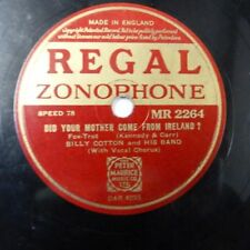78rpm BILLY COTTON did your mother come from ireland / midnight blue , MR 2264