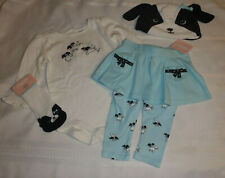 Gymboree Polka Dot Puppy 6-12 Month Hat Socks Skirted Pant Bodysuit Outfit NWT