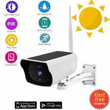 Cámara De Seguridad 1080P Wifi IP Hogar CCTV Exterior Alimentado por Batería Panel Solar &