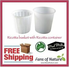 Ricotta basket with Ricotta container - Large - Cheese Making by Mad Millie