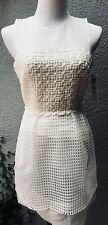 NWT French Connection for Bloomindales White Crocheted Dress, Size 2