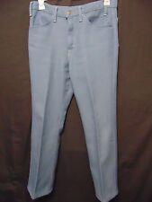 Vintage 70s Levis Action Slacks Mens Pants W 34 x I 30 Light Blue Dacron Scovill
