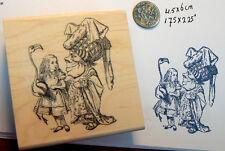 """Alice in Wonderland """"queen"""" rubber stamp 2.6x2"""""""
