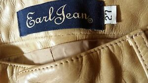 Nude/ Tan leather pants by EARL JEAN Size 27