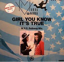 ++MILLI VANILLI girl you know it's true/magic touch MAXI 1988 CARRERE VG++