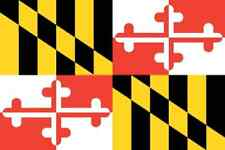 ***MARYLAND VINYL STATE FLAG DECAL / STICKER***