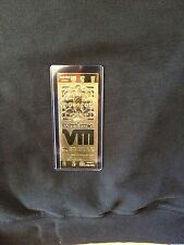Miami Dolphins vs. Minnesota Vikings Super Bowl VIII 22kt Gold Ticket (NEW)