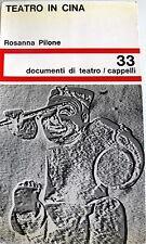 ROSANNA PILONE TEATRO IN CINA CAPPELLI 1966